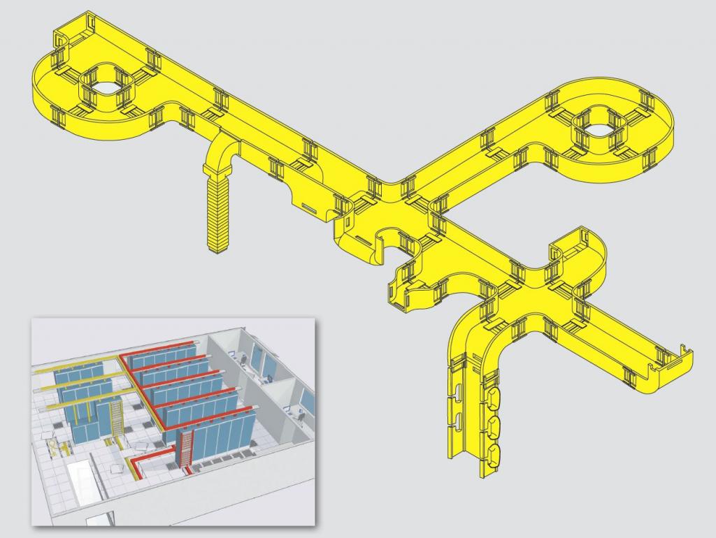 legrand yellow fiber cable tray
