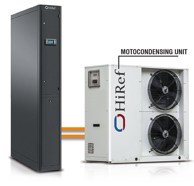 in row cooling unit motokondenzator server