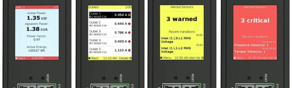 raritan px3 lcd display alerts