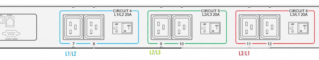 raritan px3 phases circuits